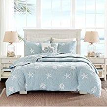 Coastal-Beach-House-Starfish-Seashell-Bedding-Set Seashell Bedding and Comforter Sets