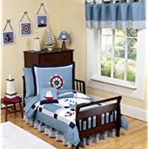 Come-Sail-Away-Nautical-Toddler-Boy-Bedding-5-Piece-Set 100+ Nautical Quilts and Beach Quilts