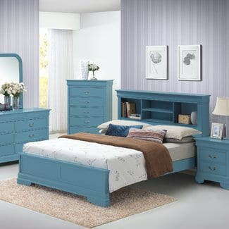 CorbeilPanelBed Beach Bedroom Furniture and Coastal Bedroom Furniture