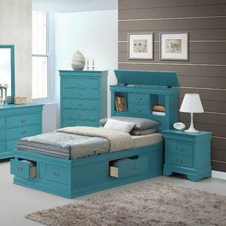 CorbeilPlatformBed Beach Bedroom Furniture and Coastal Bedroom Furniture