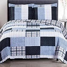 Cottage-Coastal-Coverlet-Quilt-Shams-Set 100+ Nautical Quilts and Beach Quilts