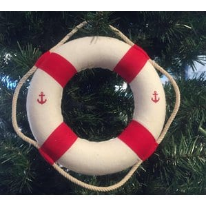 DecorativeAnchorLifeRingwithBandsChristmasOrnament Anchor Christmas Ornaments