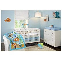 Disney-Finding-Nemo-Day-At-the-Sea-3-Piece-Crib-Bedding-Set Nautical Crib Bedding and Beach Crib Bedding
