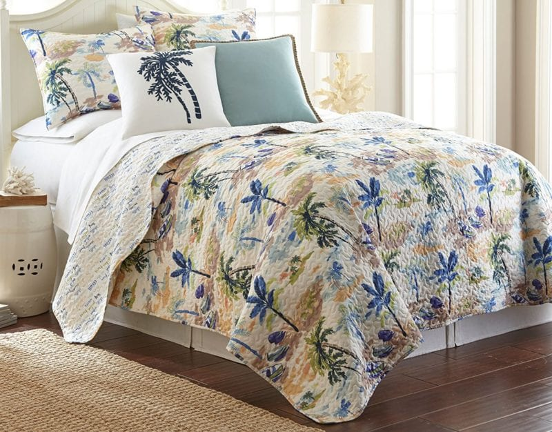 Elise-James-Home-Bateau-Tropique-Quilt-Set-800x626 Nautical Quilts and Beach Quilts