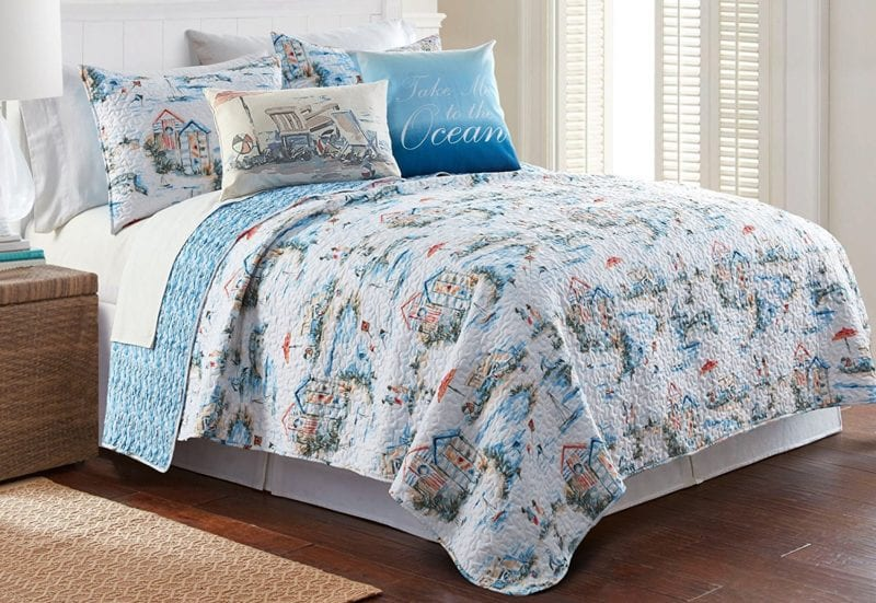 Elise-James-Home-Beach-Club-Quilt-Set--800x551 100+ Nautical Quilts and Beach Quilts
