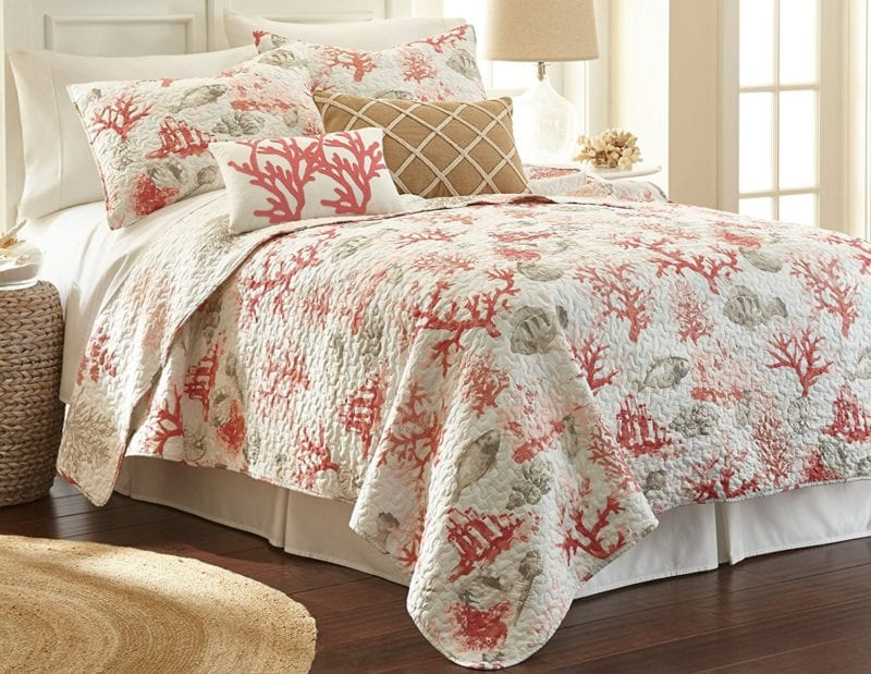 Elise-James-Home-Caledonia-Quilt-Set--800x619 100+ Nautical Quilts and Beach Quilts