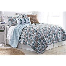 Elise-James-Home-Clear-Water-Quilt-Set-FullQueen-Blue-multi 100+ Best Seashell Bedding and Comforter Sets 2020