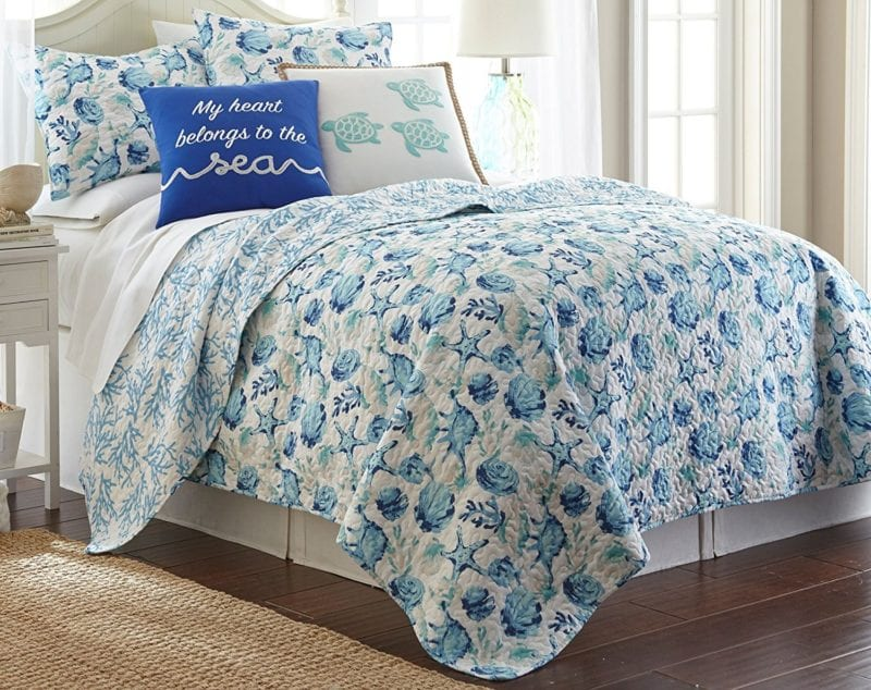 Elise-James-Home-Melanie-Quilt-Set--800x634 100+ Nautical Quilts and Beach Quilts