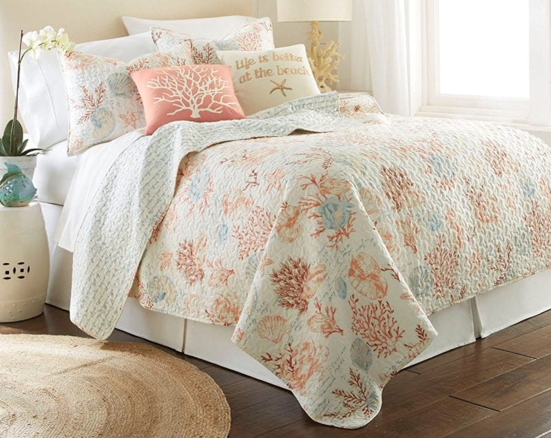 Elise-James-Home-Seton-Bay-Quilt-Set--800x636 100+ Nautical Quilts and Beach Quilts