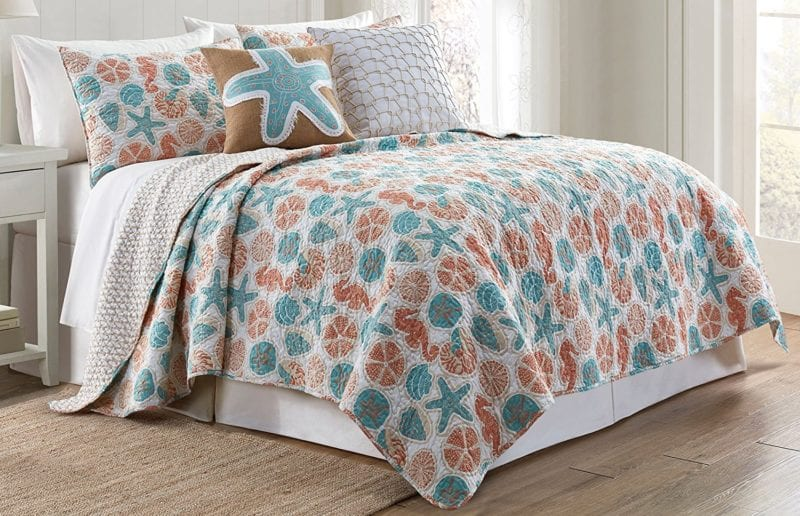 Elise-James-Home-Varadero-Quilt-Set-800x516 100+ Nautical Quilts and Beach Quilts