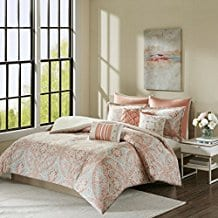 Grace-8-Piece-Cotton-Duvet-Cover-Set-Coral Coral Bedding Sets and Coral Comforters