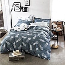 Grey-Pineapple-Cotton-Duvet-Covet-Set 50+ Pineapple Bedding Sets, Quilts, and Duvet Covers