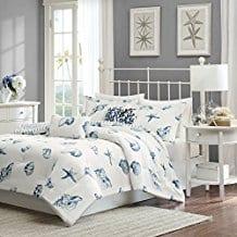 Harbor-House-Beach-House-Duvet-Cover-Mini-Set-Twin-Blue Seashell Bedding and Comforter Sets