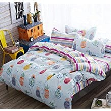 LAGHCAT-4-Piece-Kids-Bedding-duvet-cover-set 50+ Pineapple Bedding Sets, Quilts, and Duvet Covers