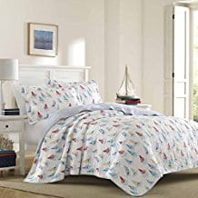 Laura-Ashley-Ahoy-Quilt-Set 100+ Nautical Quilts and Beach Quilts