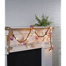 Lighted-Seashell-Garland Beachy Starfish and Seashell Garlands