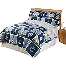 Lighthouse-Quilt-Set Nautical Quilts and Beach Quilts