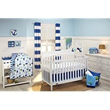 Little-Bedding-by-NoJo-Splish-Splash-3-Piece-Crib-Set Nautical Crib Bedding & Beach Crib Bedding Sets