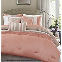 Madison-Park-7-Piece-Comforter-Set-King-Coral Coral Bedding Sets and Coral Comforters
