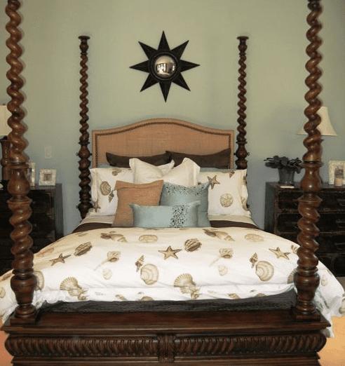 Noela-Honolulu-Hawaii-by-D-for-Design Seashell Bedding and Comforter Sets