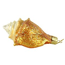 Old-World-Christmas-Golden-Seashell-Glass-Blown-Ornament 100+ Best Seashell Christmas Ornaments