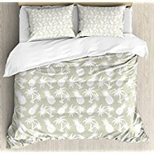 Pineapple-Decor-King-Size-Duvet-Cover-Set 50+ Pineapple Bedding Sets, Quilts, and Duvet Covers