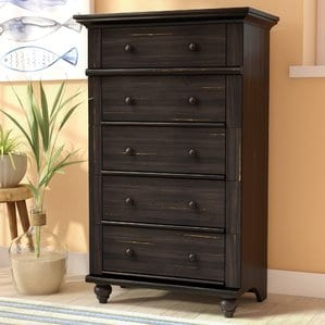 Pinellas5DrawerChest Beach Bedroom Furniture and Coastal Bedroom Furniture