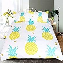 Sleepwish-Pineapple-Bedding-Kawaii-Duvet-Cover 50+ Pineapple Bedding Sets, Quilts, and Duvet Covers
