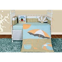 Snuggleberry-Baby-Sun-and-Sand-6-Piece-Crib-Bedding-Set Nautical Crib Bedding and Beach Crib Bedding