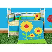 Snuggleberry-Baby-Sunflower-Love-6-Piece-Crib-Bedding-Set Nautical Crib Bedding & Beach Crib Bedding Sets