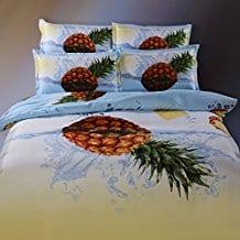 Suncloris4pcs-Queen-Size-Duvet-Cover-Set 50+ Pineapple Bedding Sets, Quilts, and Duvet Covers