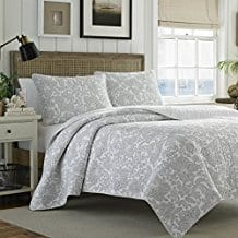 Tommy-Bahama-Island-Memory-Gray-Quilt-Set Tommy Bahama Bedding Sets & Tommy Bahama Bedspreads