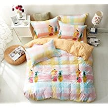 WarmGo-Duvet-Cover-Set 50+ Pineapple Bedding Sets, Quilts, and Duvet Covers