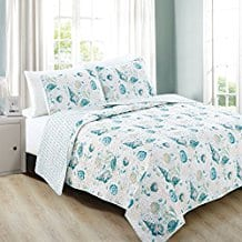Westsands-Collection-3-Piece-Coastal-Beach-Theme-Quilt-Set 100+ Nautical Quilts and Beach Quilts