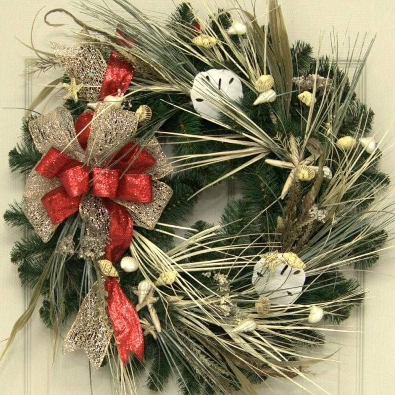 beach christmas wreath 800x800 beach christmas decorations