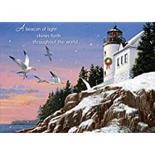 beacon-light-lighthouse-christmas-cards-18 Beach Christmas Cards and Nautical Christmas Cards