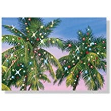christmas-lights-on-palm-tree-holiday-cards-18 Beach Christmas Cards and Nautical Christmas Cards