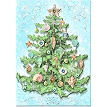 christmas-tree-seashells-12 Beach Christmas Cards and Nautical Christmas Cards