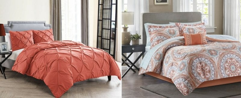Coral Bedding Sets and Coral Comforters