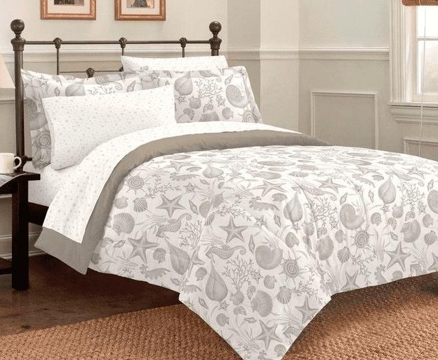 deep-sea-ocean-seashell-comforter-set Seashell Bedding and Comforter Sets