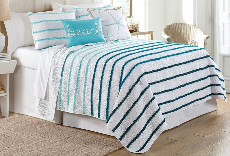 elise-and-james-home-wesley-stripes-quilt-set-tfqk-800x543 100+ Nautical Quilts and Beach Quilts