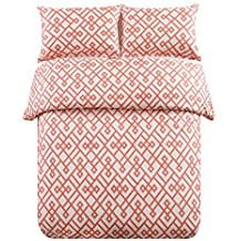 honeymoon-soft-brushed-microfiber-duvet-cover-set-coral Coral Bedding Sets and Coral Comforters