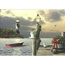 lighthouse-and-boat-christmas-cards-18 Beach Christmas Cards and Nautical Christmas Cards