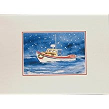 lobster-boat-nautical-christmas-cards-12 Beach Christmas Cards and Nautical Christmas Cards
