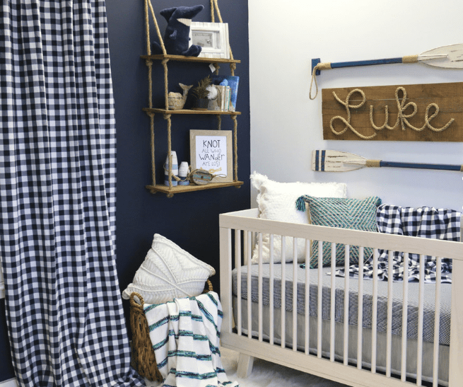 lukes-navy-nautical-nursery Nautical Crib Bedding and Beach Crib Bedding