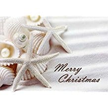 merry-christmas-seashells-starfish-card-14 Beach Christmas Cards and Nautical Christmas Cards