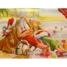 mr-and-mrs-claus-on-beach-christmas-cards-16 Beach Christmas Cards and Nautical Christmas Cards
