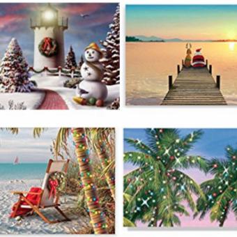 nautical beach christmas cards