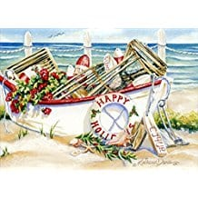 nautical-boat-christmas-cards-18 Beach Christmas Cards and Nautical Christmas Cards