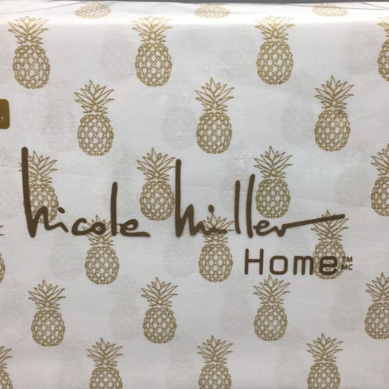 nicole-miller-pineapple-sheets-800x800 50+ Pineapple Bedding Sets, Quilts, and Duvet Covers
